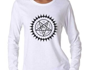 Black Butler Runes Women Longsleeve Tshirt