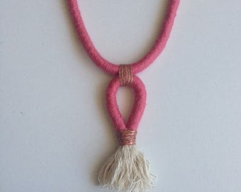 "Cotton Rope Tassel Necklace ""Joy"""