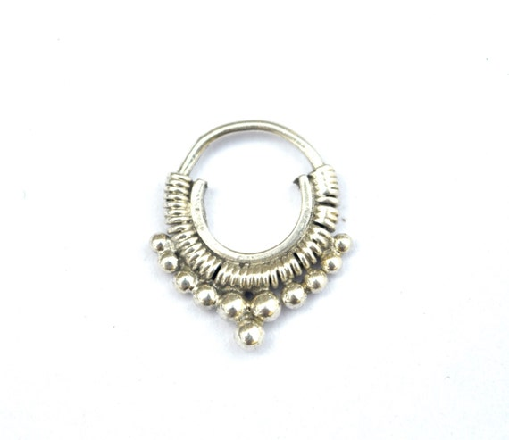 indian septum ring tribal septum ethnic septum indian nose