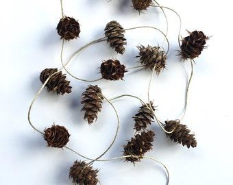 Pinecone Garland. Pine cone Garland. Natural. Organic. Colorado. Rustic. Woodland. Forest. Nursery. Wedding. Decor. Decoration.