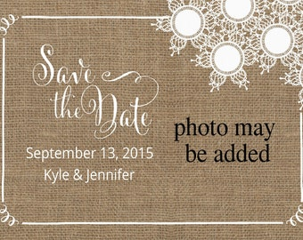Burlap & Lace Wedding Set