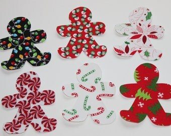 Iron on Appliques Christmas print Gingerbread man, Iron on Christmas Gingerbread, Gingerbread Iron on, Gingerbread applique