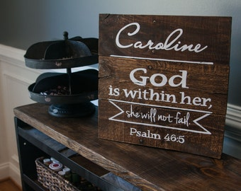 God is Within Her Sign {GIWH16X16}