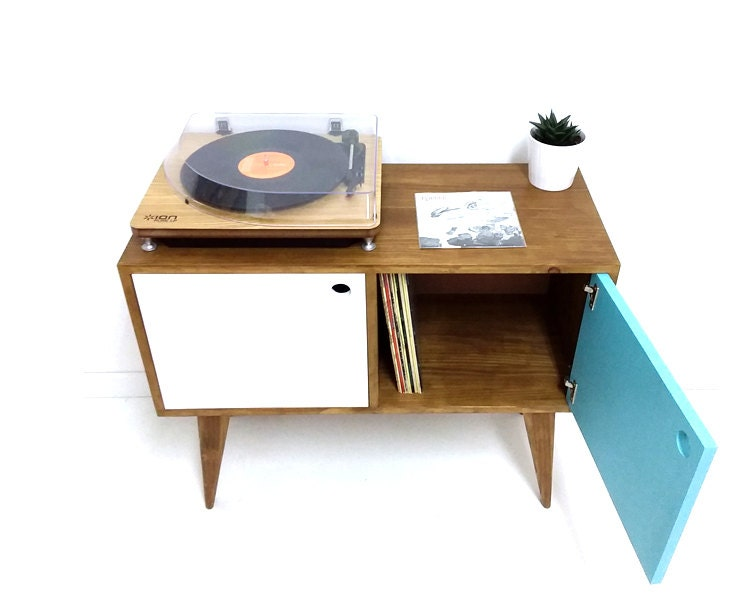 Vinyl Record Storage, Mid Century Modern Sideboard, Media Console, Record  Cabinet, TV Stand, Mid Century Furniture, Side Table, Solid Wood