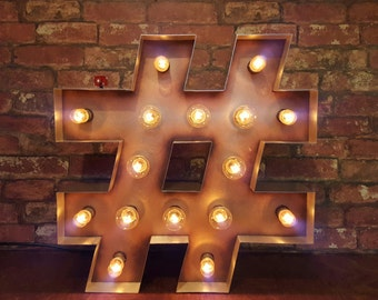 Marquee light up 'Hashtag sign'