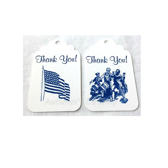 May The Fourth Be With You Baby Shower: Thank You Patriotic Tag, Americana Tags, Military Bridal