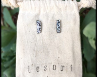 fine silver and cz earrings