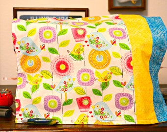 Sewing machine cover. Handmade cover. Birds. Flowers. Designer. Colorful. Useful