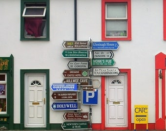 Irish Road Signs. Photo Prints 5x7 or 8x10.