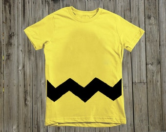 Charlie Brown costume.  Kids clothes. Toddler boy shirt. Charlie Brown shirt. Charlie Brown Birthday. Boy clothing. Peanuts birthday. Snoopy