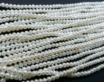 2.00 To 2.50 MM Natural Fresh Water Pearl Potato Shape
