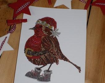 Mr Robin - Christmas Card - Greetings Card