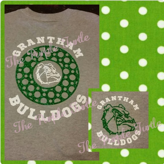 GRANTHAM BULLDOGS Circle Design Short Sleeve Tee