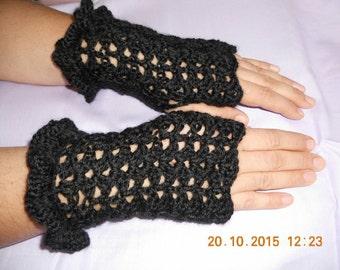 crochet fingerless gloves pattern, fingerless mittens; lace gloves pattern, crochet gloves; hand warmers pattern; wrist warmers pattern