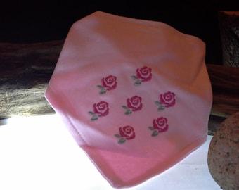 Cotton Bib .. Roses