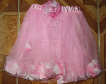 Toddler Tutu - Petal Tutu with Rose Accent -  Toddler tutu - Photo Prop