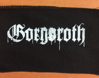 Gorgoroth black metal patch, patches