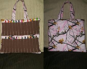 Pink Camo coloring bag