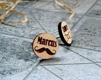 Personalized Wooden Cufflinks Groomsmen gift Groom gift Wedding cufflinks Wedding Gifts for men Valentines gifts Groomsmen cufflinks