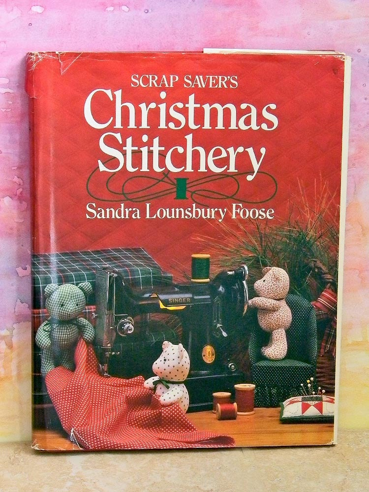Vintage Hardcover Book : Vintage hardcover craft book scrap savers christmas