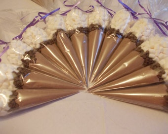 Hot Chocolate 20 cones wedding favours candy cone SET of 20 sweet cones wedding table decoration