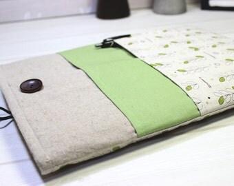 Ebook reader case, 8 inch tablet case, dainty tablet sleeve, iPad Mini sleeve, iPad Mini4 case, unique iPad sleeve, 6 inch tablet case