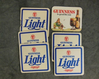 Guinness Beer Coasters, Collection of 6 - Vintage