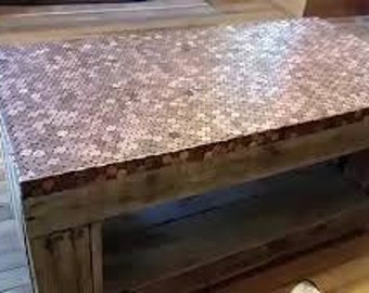 epoxy resin penny tables