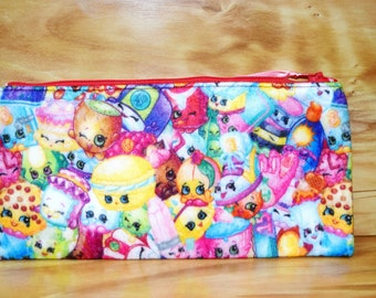 Sale~Shopkins Fleece Pencil Zipper Case