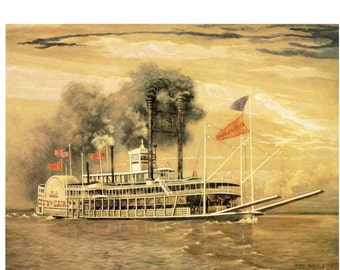 The City of Cairo Steamship from the book Burny Myrick the Timeless River