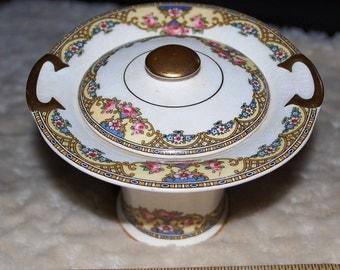 1920  West End Pottery Art Nouveau  Sugar Bowl
