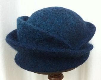 Hand Felted Norwegian C1 and Merino Wool Hat