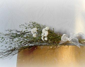 Wedding decor, hanging decor, set of 5 dried flowers bundles, hanging decor, rustic wedding decor