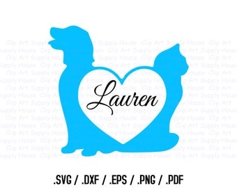 Animal Pet Love SVG Clipart, SVG Office Wall Art, Pet SVG File, Silhouette Studio, Cricut Design, Brother Scan Cut, Die Cut Machines - CA242