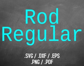 Rod Regular Font Design Files For Use With Your Silhouette Studio Software, DXF Files, SVG Font, EPS File, Svg Font, Classic Type Silhouette