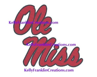 Ole Miss Embroidery design 7 SIZES!