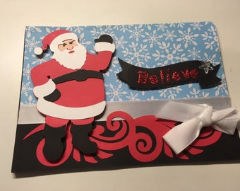 Santa Christmas Card with envelope