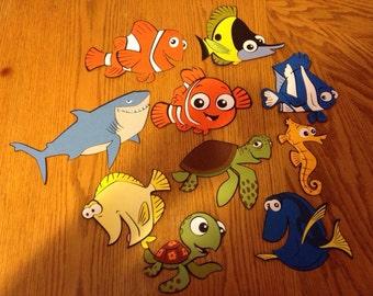 Set of 10 Finding Nemo die cuts