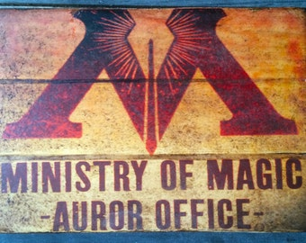 Distressed Ministry of Magic Auror Office Sign