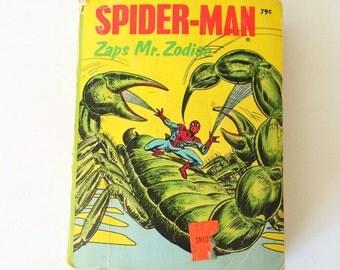 Vintage Comic Book; Spider-Man Zaps Mr. Zodiac 1970's