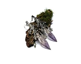 Alstroemeria earrings.Purple long earrings . Romantic earrings