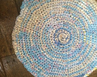 Blue and Pink Rag Rug