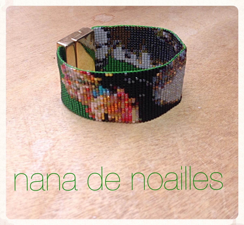 Bekannt Bracelet Manchette Perles de rocailles Miyuki Tissées / Half  GT69
