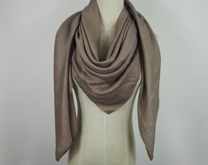 Cream Scarf Christmas Gifts Oversized Scarf Pashmina Scarf Shawl Cowl Scarf Taupe Infinity Scarf Brown Fall Scarf Gift For Her Natural Scarf