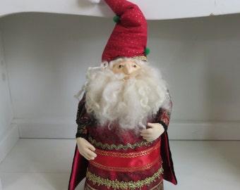 Santa art doll, Cloth  Santa Claus art doll