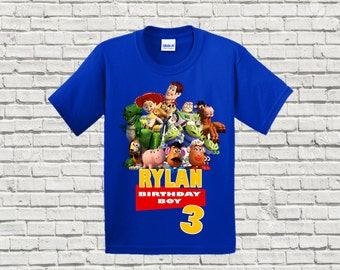 Toy Story Birthday Shirt - Boys Toy Story Birthday Shirt - Raglan Baseball Shirt Available