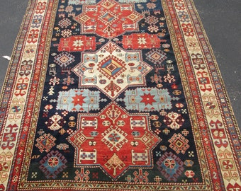10'6''x5'6'' Exceptional large 19th Century caucasian shirvan oriental Rug.