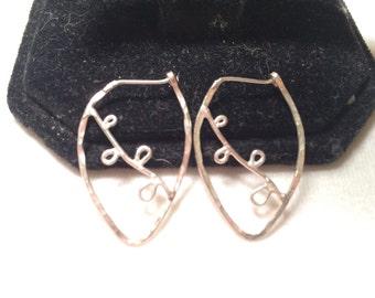 925 sterling sliver hoop earring