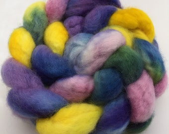 Spring hand dyed BFL