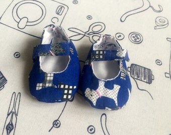 Handmade Scottie Dog Baby Shoes
